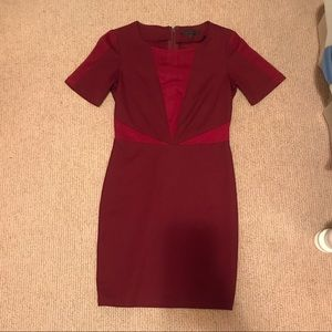 Lucca Couture Burgundy Dress